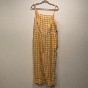 Old Navy Yellow Gingham Jumpsuit